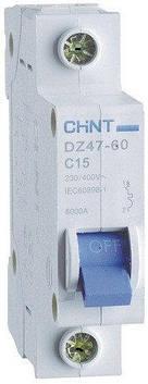 Автоматичні вимикачі CHINT DZ47-60 1P C 6A 4,5 kA на DIN-рейку