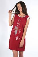 Платье туника летняя женская хлопковая с принтом 48