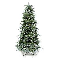 Искусственная елка Triumph Tree Deluxe Slim Abies Nordmann зеленая с инеем 1,85 м (8712799279667)