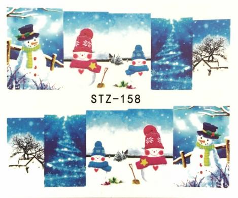 Слайдер-дизайн для ногтей STZ-158 6.2*5.2 см