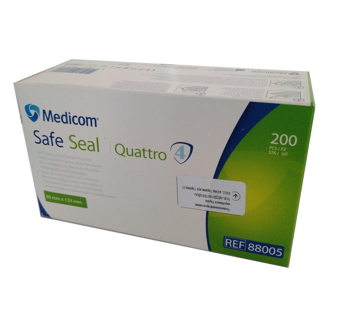 Самоклеющиеся пакеты для стерилизации Safe-Seal Quattro 89*133 NaviStom