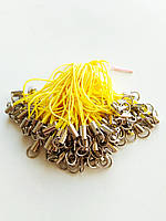 Шнурок основа для брелока жовтий