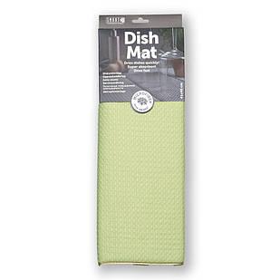 Коврик для посуды повышенной впитываемости SMART Microfiber System светло-зеленого цвета
