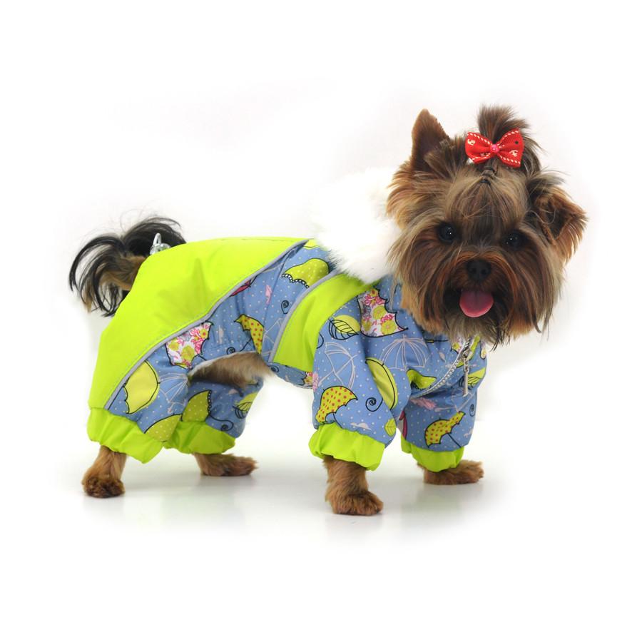 Комбинезон для собак Фантазия с капюшоном салатовый