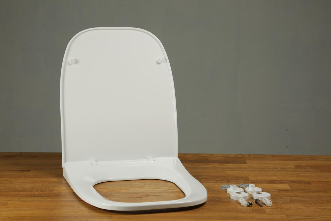 Сидіння з кришкою для унітазу з термопласту Fiesta Soft 0341