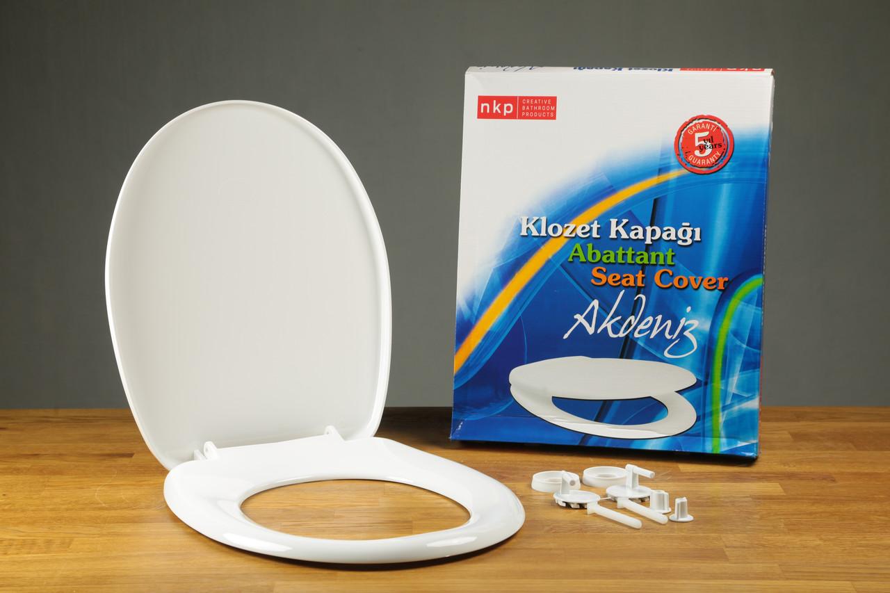 Сиденье для унитаза из термопласта с крышкой Akdeniz 0300