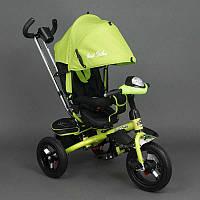 Велосипед Best Trike 3-х колёсный 6590 САЛАТОВЫЙ (1) НАДУВНЫЕ КОЛЁСА d=29см. переднее, d=26см. задние,