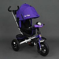 Велосипед Best Trike 3-х колёсный 6590 ФИОЛЕТОВЫЙ (1) НАДУВНЫЕ КОЛЁСА d=29см. переднее, d=26см. задние,