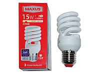 Лампа энергосберегающая MAXUS XPiral 15w 2700k (тёплый свет) Е27  1-ESL-199-11