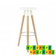 Барный стул для кафе, баров, ресторанов Отилио, белый, дерево