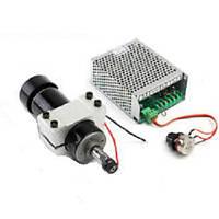Шпиндель 500 Вт для ЧПУ станка + хомут + БП с регулятором оборотов