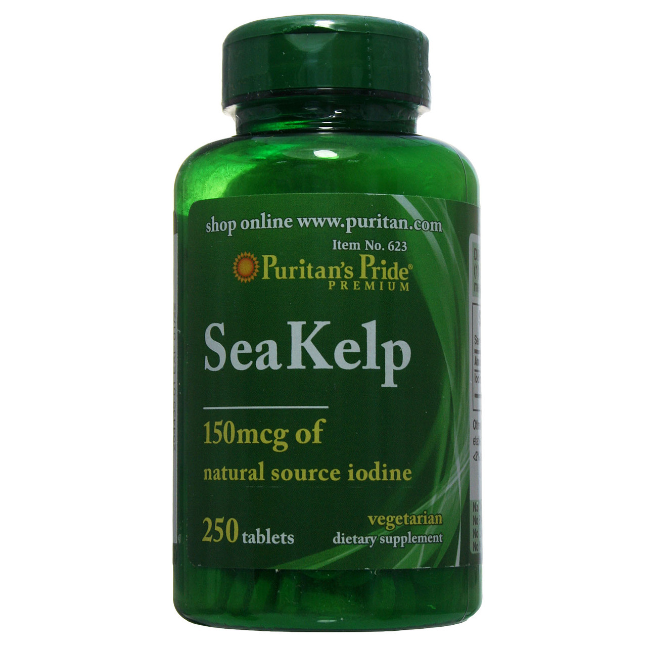 Келп, Sea Kelp, Puritan's Pride, 250 таблеток