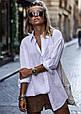 Женская рубашка свободного кроя BOY  белый, фото 4