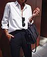 Женская рубашка свободного кроя BOY  белый, фото 5