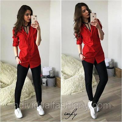 Рубашка BOY  красный