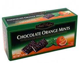 Шоколадные конфеты Maitre Fruffout Chocolate Orange Mints с мятой и апельсином 200 г