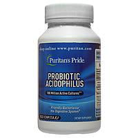 Пробиотики Ацидофилус, Probiotic Acidophilus, Puritan's Pride, 100 капсул