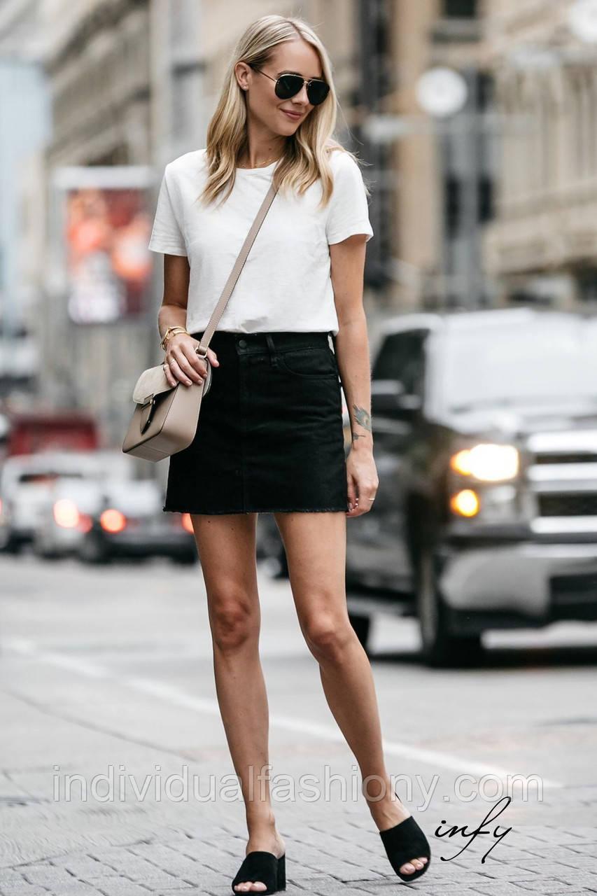 Базовая женская белая футболка