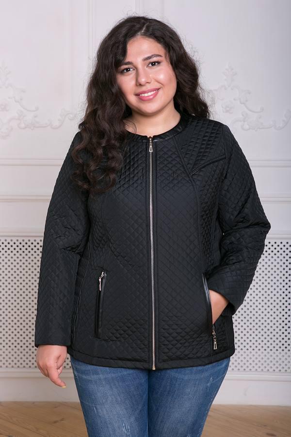 Куртка из стеганой плащевки Лика черная(54-60)
