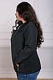 Куртка из стеганой плащевки Лика черная(54-60), фото 2