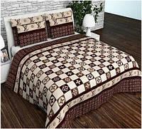 Півтораспальний постільний комплект - Луі Вітон коричневий