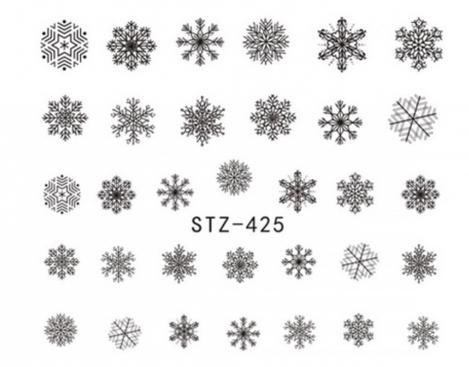 Слайдер-дизайн для ногтей STZ-425 6.2*5.2 см