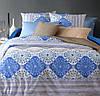 Комплект постельного белья  двуспальный  ВАЛОШКІ  (навол.70*70)