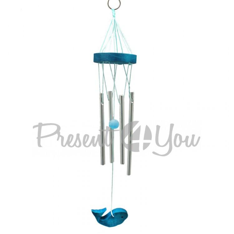 Колокольчик фен шуй музыка ветра «Рыба Кит», h-25 см