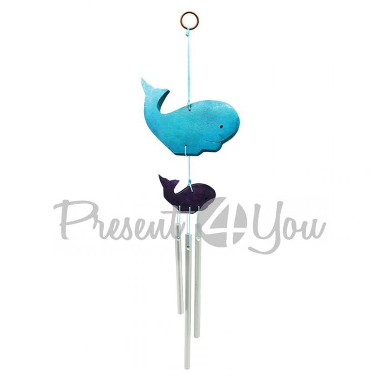 Колокольчик фен шуй музыка ветра «Рыба Кит», h-27 см