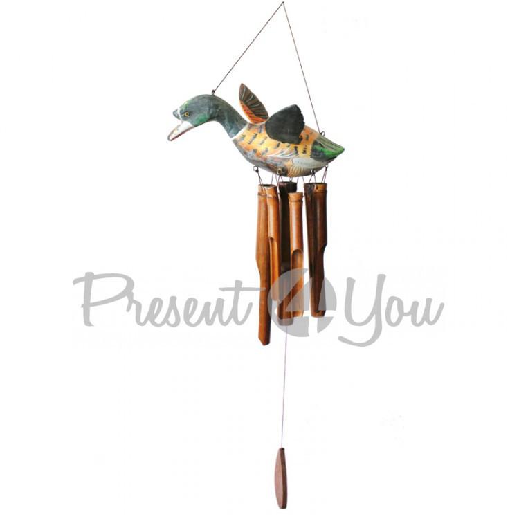 Колокольчик фен шуй музыка ветра «Утка», h-101 см