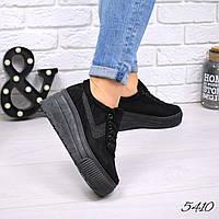 Кроссовки женские на платформе Olly черные 5410, фото 1