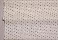 Сатин (бавовняна тканина) сірі зірки на ванільному, фото 2