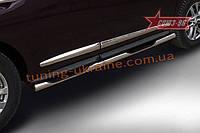 Пороги с проступями d76 Союз 96 на Nissan Pathfinder 2014