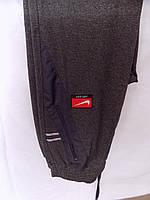 Штаны мужские спортивные большой размер весна-осень трикотаж прямые т.серые оптом, фото 1