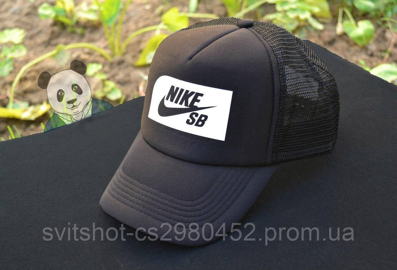 Кепка Тракер Nike SB (Найк СБ), белый фон