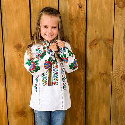 Вишита блуза для дівчинки Радуга, фото 2