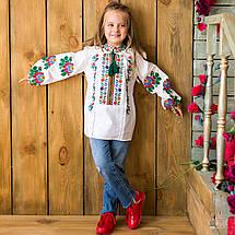 Вишита блуза для дівчинки Радуга, фото 3