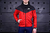 Windrunner Nike (Ветровка, виндраннер Найк), черно-красная
