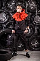 Windrunner Nike (Ветровка, виндраннер Найк), оранжево-черный
