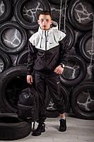 Windrunner Nike (Ветровка, виндраннер Найк), бело-черный