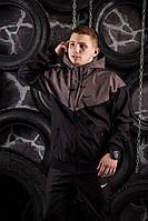 Windrunner Nike (Ветровка, виндраннер Найк), коричнево-черный