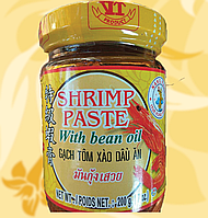 Креветочная паста в соевом масле, крупный помол, Shrimp Paste with bean oil, 200г,Ч