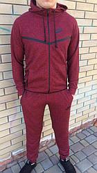 Спортивный костюм Nike (Найк), ТОП петля бордовый