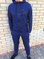 Спортивный костюм Nike (Найк), ТОП петля темно-синий