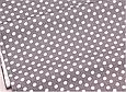 Сатин (хлопковая ткань) на сером горох, фото 2
