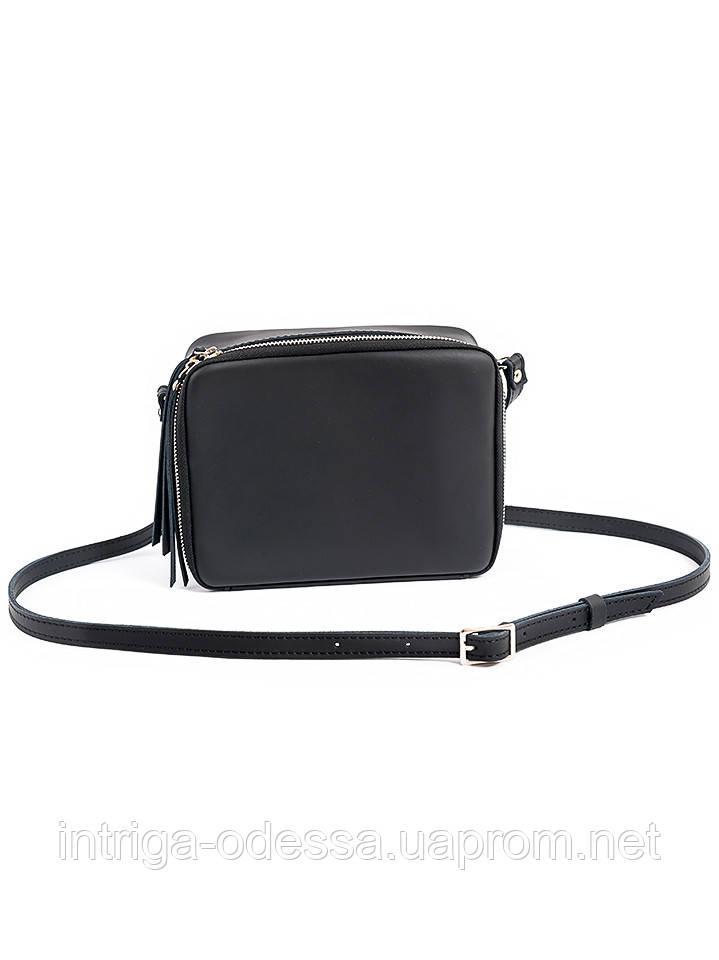 Клатч черный кожаный 6692-11