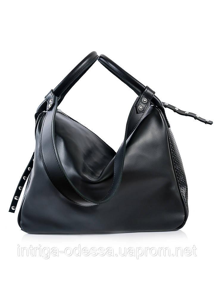 Вместительная кожаная сумка 6690-11