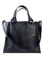 Кожаная сумка черная Classik 6693-11, фото 1