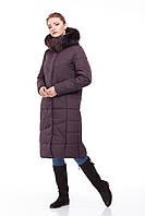 Шикарный зимний Пуховик пальто длинное больших размеров ЕНОТ 42-56