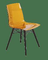 Стілець Papatya X-Treme S Wox прозоро-помаранчевий, ніжки бук венге лак, фото 1